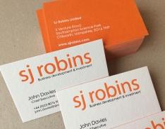 SJ Robins business cards