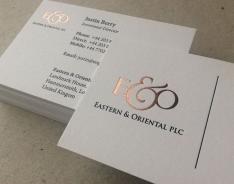 E&O business cards