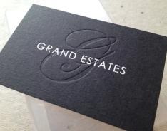 Grand Estates business card