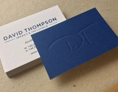 David Thompson business card