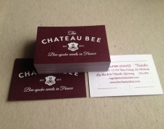 The Chateau Bee business cards