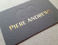 PIere Andrews business card