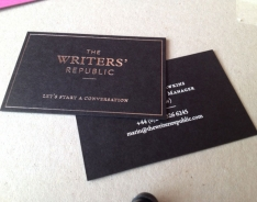 The Writers' Republic business card