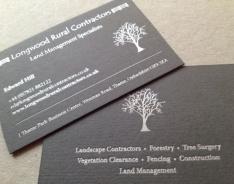 Longwood Rural Contractors business card