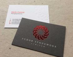 Tudor Stonework business card