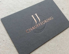 JJ Chauffeuring business card