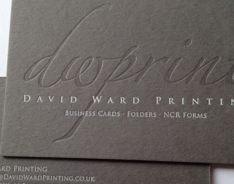 David Ward Prinitng Business Cards
