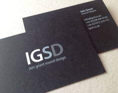 Iain Grant S D business card