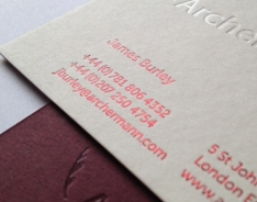 Archer Mann Business Cards