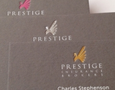 Prestige Insurance Brokers Business Cards