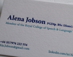Alena Jobson Business Cards