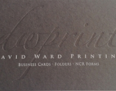 David Ward Printing Business Cards
