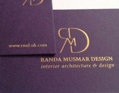 Randa Musmar Design Business Cards