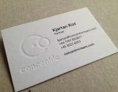 Concentric Business Cards