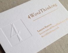 4Word Thinking Business Cards