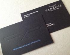Panache Chauffeurs business card