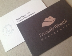 Friendly Wealth Management business card