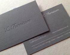 I C Furniture business card