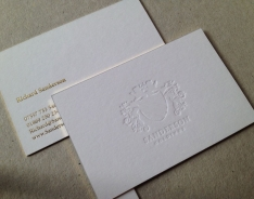 Sanderson Holdings business card