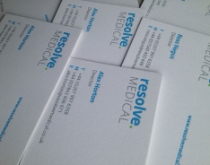 Resolve Medical business cards