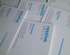 Resolve Medical business cards