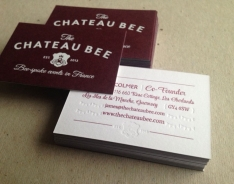 Chateau Bee business card