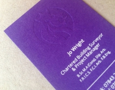 Jo Wright business cards