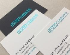 RARE business card