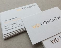 WD London business card