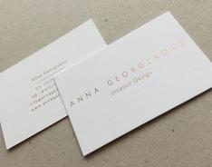 Anna G. business card