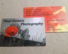 Paul Dennis Photography Premium business card