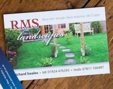 RMS Landscapes Premium business card