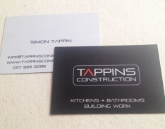 Tappins Construction Premium business card