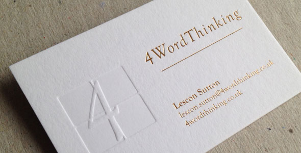 4word thinking ultimate business cards 4word thinking wanted some new business cards and this time they wanted something different they asked us to produce some bespoke individual business reheart Images