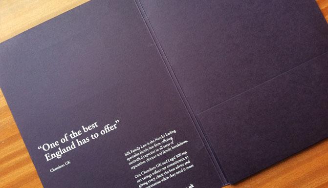 colorplan letterpress foil deboss presentation folder