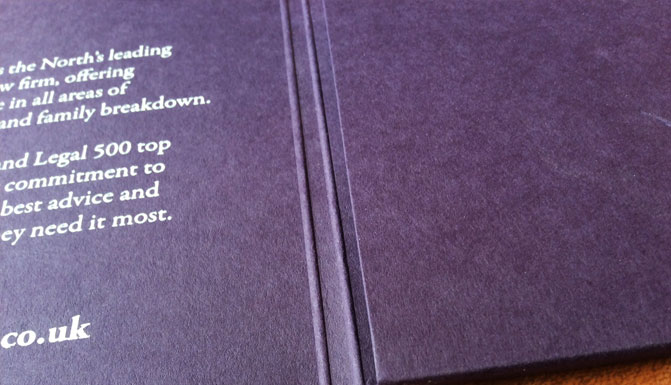 colorplan letterpress foil deboss presentation folder