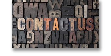 contact us letterpress type
