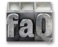 faq letterpress type