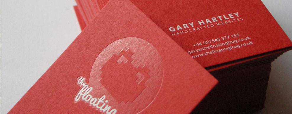 red extra-thick textured matt card with foiling