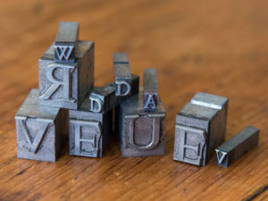 metal letterpress characters / letters