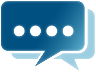 testimonials large blue image speech bubble