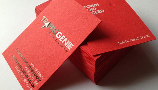 letterpress hot foil business card