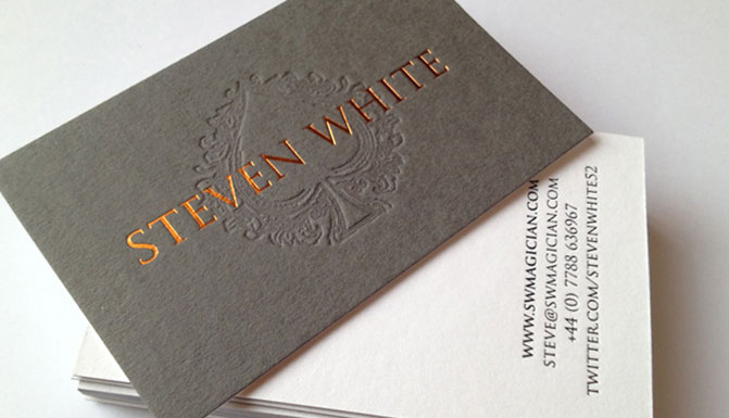 Letterpress foil business cards ubc letterpress hot foil business card colourmoves