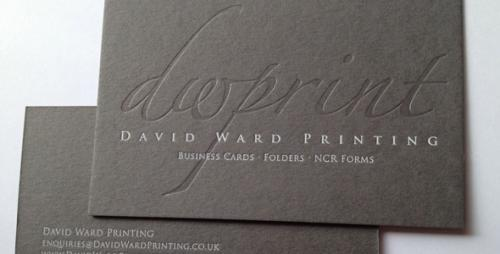 bespoke ultra-thick Individual clear foil embossed foiled dark grey business card